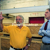 David Bray, property manager for Imperial Mill in Plattsburgh, takes Congressman Bill Owens on a tour of the warehouses there.<br><br>(STAFF PHOTO/KELLI CATANA)