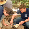 Liz Kizior and Tim Szablewski work at Pike's Cantonment in Plattsburgh, carefully searching for artifacts that illustrate how such a military encampment operated during the War of 1812. This is the second summer a dig has taken place there.<br><br>(P-R PHOTO/JEFF MEYERS)