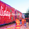 A crowd of about 150 people welcomed the Canadian Pacific Railway Holiday Train covered with lights as it rolled into Port Henry Train Station on Thanksgiving Day. The railroad made a $3,500 cash contribution to the Moriah Food Pantry - more than three times higher than usual - in honor of the train's 15th anniversary. Port Henry Fire Department also made a donation to the food shelf. The train also made stops in Ticonderoga, Plattsburgh and Rouses Point.<br><br>(STAFF PHOTO/LOHR McKINSTRY)
