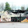 Little more than melted siding and charred steel remains after the massive Saturday evening fire that destroyed a warehouse at  the Schluter Systems Complex in Plattsburgh.<br><br>(P-R PHOTO/ROB FOUNTAIN)