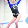 Peru's Allison Timmons performs her routine on the balance beam during Friday's Champlain Valley Athletic Conference gymnastics meet with Beekmantown at Peru Central School. The Indians captured the victory.<br><br>()