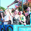 """Plattsburgh High School students portray characters from the classic Hanna-Barbera cartoons """"The Flintstones"""" and """"The Jetsons"""" during their homecoming parade Saturday. The spectacle, which traveled on Broad and Rugar streets, also featured the school band and cheerleading squad. This year's theme was """"Classic Television.""""<br><br>(P-R PHOTO/GABE DICKENS)"""