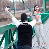 Jerry Cadieux tests out his new mirrorless digital camera and wireless flash by photographing his friend Emily Rabideau as she performs hula-hooping tricks on the pedestrian bridge over the Saranac River in downtown Plattsburgh on a beautiful spring afternoon.<br><br>(GABE DICKENS/P-R PHOTO)