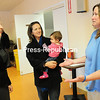 Congresswoman Elise Stefanik (left) talks with Sarah Davis (center), holding her daughter, Samantha, and Jill Folsom Thursday during a Coffee with Your Congresswoman event at Beekmantown Town Hall. Stefanik met with residents and answered questions.<br><br>(ROB FOUNTAIN/STAFF PHOTO)