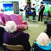 Charlie Stone and Split Rock perform for guests and residents at Evergreen Valley Nursing Home in Plattsburgh during a recent concert.<br><br>(GABE DICKENS/P-R PHOTO)