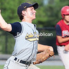 Lake Placid's Chris Williams delivers a pitch en route to a complete-game win over Moriah in the Section VII Class D title game Friday at Chip Cummings Field in Plattsburgh.