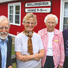 Among those celebrating the 100th anniversary of the Whallonsburg Grange were members from its first half century Jim LaForest (left to right), Norma Goff, Arlene Mason and Shirley LaForest. (ALVIN REINER/P-R PHOTO)