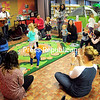 ROB FOUNTAIN/STAFF PHOTO 12-28-2017<br /> Jeff Meyer (from left) and Josh Meyer — the Dirty Diaper Band — perform children's tunes Wednesday during the Kid's Fun Day at Plattsburgh Public Library. The event, including two book hunts, character trivia, crafts and snacks, was hosted by Plattsburgh Families and the library.