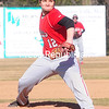 ROB FOUNTAIN/STAFF PHOTO 4-14-16<br /> Beekmantown pitcher Manny Brinson delivers a pitch Wednesday against Plattsburgh High. The Hornets handed the Eagles their first lost of the season.