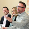 Aaron Benner, of Boire Benner Group, talks about the millennial influence on an adapting workforce Wednesday during the ninth-annual Economic Forum at the Butcher Block in Plattsburgh. The event was presented by the Adirondack Young Professionals.<br /> ROB FOUNTAIN/STAFF PHOTO 4-13-2016