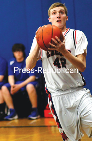 Westport's Anderson Gay drives the baseline during an MVAC game last week. The senior surpassed 1,000 career points on Thursday. (Alvin Reiner/P-R Photo)