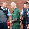 David Sweat is lead out of the Clinton County Government Building in Plattsburgh by correctional officers following his sentencing Wednesday morning. Sweat was sentenced by Judge Patrick McGill to the maximum of 3 1/2 to seven years for two counts of first-degree escape and one count of promotion of prison contraband, along with paying $79,841 in restitution for repairs made to Clinton Correctional.