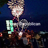 ROB FOUNTAIN/STAFF PHOTO  7-5-2016<br /> Fireworks pop off over Lake Champlain during the Rouses Point July Fourth Celebration on Sunday. The event also included a parade.