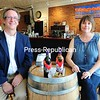 Colin Read and Natalie Peck, owners of Champlain Wine Company, were honored at the Finger Lakes International Wine Competition with their Cabernet Franc, which won a silver medal, and their Full Sail White, which took the gold. <br /> ROB FOUNTAIN/STAFF PHOTO  7-3-2016