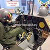 ROBIN CAUDELL/STAFF PHOTO<br /> A Quebecois translates the flight checklist from English to French as he explores the Cockpit Procedures Trainer at the Plattsburgh Air Force Base Museum.