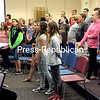 "KIM SMITH DEDAM/STAFF PHOTO    6-21-2016<br /> The Ticonderoga Central School Middle School Chorus, directed by teacher Andre Gordon, sings a choral version of ""Stitches"" on the last day of the 2015-16 school year."