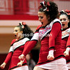 Saranac Central School cheerleaders perform a rountine recently during the Champlain Valley Athletic Conference Section VII State Qualifer Cheerleading Comprtition at Beekmantown High School.<br /> ROB FOUNTAIN/STAFF PHOTO