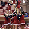 Moriah Central School cheerleaders finished in second-place in the Small Varisty division recently during the Champlain Valley Athletic Conference Section VII State Qualifer Cheerleading Comprtition at Beekmantown High School.<br /> ROB FOUNTAIN/STAFF PHOTO