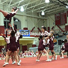 "Northeastern Clinton Central School cheerleaders run through one of their winning routines recently during the Champlain Valley Athletic Conference Section VII State Qualifer Cheerleading Comprtition at Beekmantown High School. The Cougars finished in first place for the Small Varisty Division and were the overall winners. See bonus photos from the event at  <a href=""http://www.pressrepublican.com"">http://www.pressrepublican.com</a>. <br /> ROB FOUNTAIN/STAFF PHOTO"