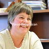 Seton Catholic Central School Principal Cathy Russell reflects on her career in administration recently. She will retire at the end of the school year. Russell said she enjoyed her time at Seton and feels she is leaving the school in good shape for the next principal.<br /> (ROB FOUNTAIN/STAFF) 3-28-2016