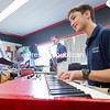 "GABE DICKENS/P-R PHOTO 5-7-2016<br /> Nick Palmer practices Johann Sebastian Bach's ""Minuet 3"" on keyboard, while saxophonist Cameron Lee performs ""Two Bourrees,"" also by Bach, under the tutelage of Joel Perkins, a music teacher at Seton Catholic Central School, at the high school Thursday afternoon. Palmer and Cameron, along with other students from Clinton, Franklin and Essex counties, will be performing at the 2016 New York State School Music Association's Zone 6 Solo and Small Ensemble Evaluation Festival today at Stafford Middle School."