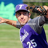 ROB FOUNTAIN/STAFF PHOTO   5-25-2016<br /> Ticonderoga pitcher Ryan Trudeau gets ready to hurl the ball towards home against AuSable Valley Tuesday during the Class C championship game at Chip Cummings Field in Plattsburgh.