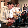 GABE DICKENS/P-R PHOTO 11-5<br /> Skip Smithson (left), Roy Hurd (center) and Tim Hartnett perform for a full house at the Unitarian Universalist Fellowship's Palmer Street Coffeehouse in Plattsburgh. In its 29th season, the coffeehouse hosts musical acts the first Friday of every month through June. The doors open at 7 p.m. with performances starting at 7:30 p.m. Admission is $10. Native-Americana singer songwriters Eddy and Kim Lawrence will be the next to perform, on Friday, Dec. 3.