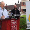 ROB FOUNTAIN/STAFF PHOTO 11_3_2016<br /> City of Plattsburgh Mayor James Calnon, joined by City Councilor Josh Kretser (D-Ward 6), discusses the city's plans for holiday season festivities at a news conference at the Strand Center for the Arts Tuesday.