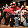 """GABE DICKENS/P-R PHOTOS 11-19-2016<br /> ABOVE: The Clinton Community College Drama Club performs a number from the musical """"Avenue Q"""" during the opening night of the show Thursday at the college's Stafford Theatre. The final showing takes place at 5 p.m. today. General admission is $15; $8 for Clinton CC students and faculty. The show, billed as """"the off-Broadway smash, raunchy, laugh-out-loud musical puppet show,"""" is rated R (parents strongly cautioned)."""