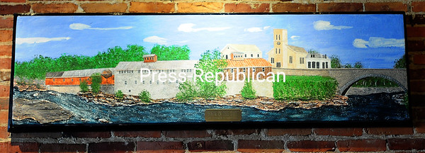 The Prescott Mill is among the Keeseville historic sites artist Donald Y. Rennell has painted on Styrofoam.  8-24-2016