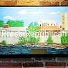 The Prescott Mill is among the Keeseville historic sites artist Donald Y. Rennell has painted on Styrofoam.<br /> <br /> 8-24-2016