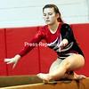 ROB FOUNTAIN/STAFF PHOTO 9-21-2016<br /> Beekmantown's Kailey Quackenbush performs a routine on the beam Tuesday during a gymnastics meet against Plattsburgh High in Beekmantown.