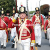 Reenactors representing the British Army march down City Hall Place during the annual Battle of Plattsburgh parade Saturday afternoon. Check out Monday's edition of the Press-Republican for full coverage of the Battle of Plattsburgh weekend festivities.<br /> GABE DICKENS/P-R PHOTO 9-11-2016