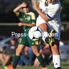 GABE DICKENS/P-R PHOTO 9-11-2016<br /> Seton Catholic's Cailene Allen boots the ball up the field during a soccer game against Northern Adirondack in Plattsburgh Friday afternoon. The Knights and the Bobcats battled to a scoreless draw.