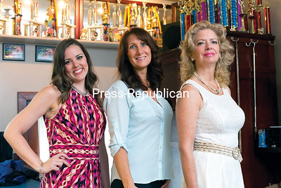 GABE DICKENS/P-R PHOTO 8-22-2016 Hip-hop and jazz dance instructor Stephanie Hubbard (left) and Barbara Racine (center), owner of Langlois-Racine Dance School, have welcomed Victoria Ainsworth, the newest addition to the school, with extensive experience in classical ballet.