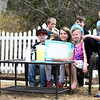 KAYLA BREEN/STAFF PHOTOS<br /> Recent sunshine has drawn North Country residents out to enjoy spring. Here, (from left) Johnny Douglass, 9; Liam Douglass, 6; Taylor Durney, 9; Ella Hartmann, 6; Tyler Durney, 7; and Daniel Hartmann ,9, show off their lemonade stand on Durand Street in Plattsburgh. The children sold lemonade for $1 and donated all the money raised to charity.