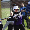 KAYLA BREEN/STAFF PHOTO<br /> Ticonderoga's Emily Hood takes a swing during a Champlain Valley Athletic Conference softball game against Peru Monday in Peru.