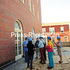 JACK LaDUKE/P-R PHOTO<br /> Media members and others take a tour Wednesday of the Hotel Saranac, which is undergoing major renovations. Developers hope to have the Saranac Lake hotel open this summer.