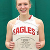 GABE DICKENS/P-R PHOTOS<br /> Beekmantown's Kenna Guynup poses with her Champlain Valley Athletic Conference Most Valuable Player certificate.