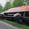 A Redds ale truck overturned on Route 9N in Crown Point on Tuesday morning. Fortunately, the contents of the tractor-trailer truck, which includes the company's apple and strawberry ale, did not spill. State Police called in Crown Point Fire Department to help shut down the road near Taylor Way for about a half-hour while the truck was removed. The traffic tie-up affected Ticonderoga as well, as multiple log trucks headed to International Paper were delayed at the accident site. Information on the accident was not available Tuesday.<br /> KAYLA BREEN/ STAFF PHOTO