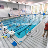 The Lake Champlain Waves swim team takes part in the last practice of its summer session Friday morning in Memorial Hall. With renovations of Memorial Hall due in the near future, the fate of the pool is uncertain.<br /> GABE DICKENS/ P-R PHOTO
