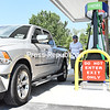 James Finnegan fills up his truck at the new Sam's Club gas station in Consumer Square in Plattsburgh. Eighty-eight parking spaces were removed to add the six self-serve gas pumps, 3,480-square-foot canopy and 192-square-foot kiosk. The project was approved by the Town of Plattsburgh Planning Board in October 2015.<br /> KAYLA BREEN/ STAFF PHOTO
