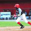 Plattsburgh RedBirds player Ronald Jackson bunts during Wednesday's Empire Professional Baseball League game at Chip Cummings Field.<br /> KAYLA BREEN/ STAFF PHOTO