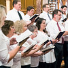 """The Trinity choir performs """"We Three Kings,"""" written by John Henry Hopkins Jr., who served as the church's rector from 1872 to 1876.<br /> GABE DICKENS/ P-R PHOTO"""