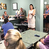 Congresswoman Elise Stefanik speaks about workforce development during a roundtable discussion at OneWorkSource in Plattsburgh Monday.<br /> JOE LOTEMPLIO/ STAFF PHOTO