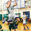 Seton Catholic's Kevin Murray (23) skies to the basket during a Mountain and Valley Athletic Conference boys basketball game against Elizabethtown-Lewis Wednesday in Plattsburgh.<br /> ROB FOUNTAIN/STAFF PHOTO 1-12-2017