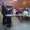 ASHLEIGH LIVINGSTON/STAFF PHOTO 1-26-2017<br /> Dr. Michael Morgan, dean of SUNY Plattsburgh's School of Education, Health & Human Services, speaks about a growing teacher shortage across the nation during a recent meeting of the Rotary Club of Plattsburgh, held at the Butcher Block.