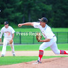 Plattsburgh RedBirds pitcher Mitchell Lake delivers the ball to a Puerto Rico Islanders batter during Sunday's Empire Professional Baseball League game at Chip Cummings Field.<br /> KAYLA BREEN/ STAFF PHOTO