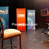 """The stage is set for taping of an episode of """"Mountain Lake Journal"""" at Mountain Lake PBS in Plattsburgh. Moderator and host Thom Hallock is credited with providing quality, in-depth analysis of topics that are important to the station's audience, located in Clinton, Essex and Franklin counties, southeastern Ontario and southwestern Quebec.<br /> KAYLA BREEN/STAFF PHOTO"""