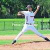 Plattsburgh RedBirds pitcher Demitri Nunez delivers a pitch during Sunday's Empire Professional Baseball League doubleheader at Chip Cummings Field.<br /> KAYLA BREEN/STAFF PHOTO